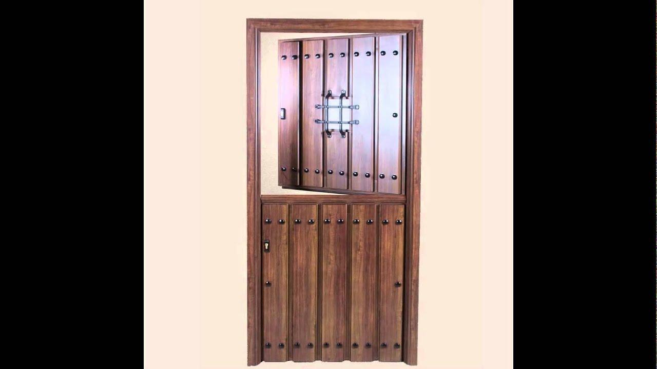 Puertas rusticas de aluminio youtube - Topes para puertas leroy merlin ...