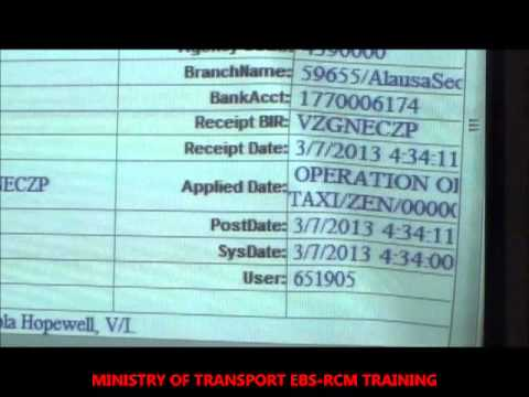EBSRCM TRAINING WITH MINISTRY OF TRANSPORTATION MAY 2013