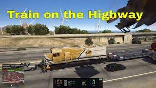 GTA 5 - Khi tàu lửa chạy ra ngoài đường (Train on the Highway) | ND Gaming