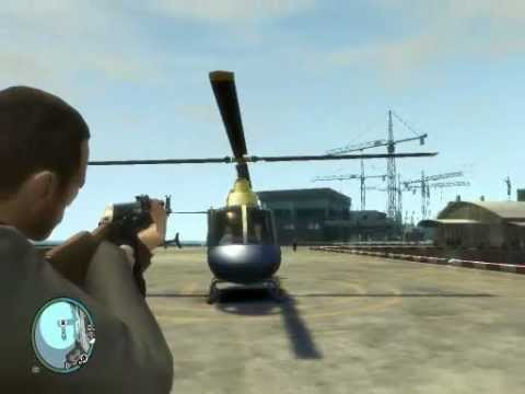 GTA 4 -  Heliport Fun!