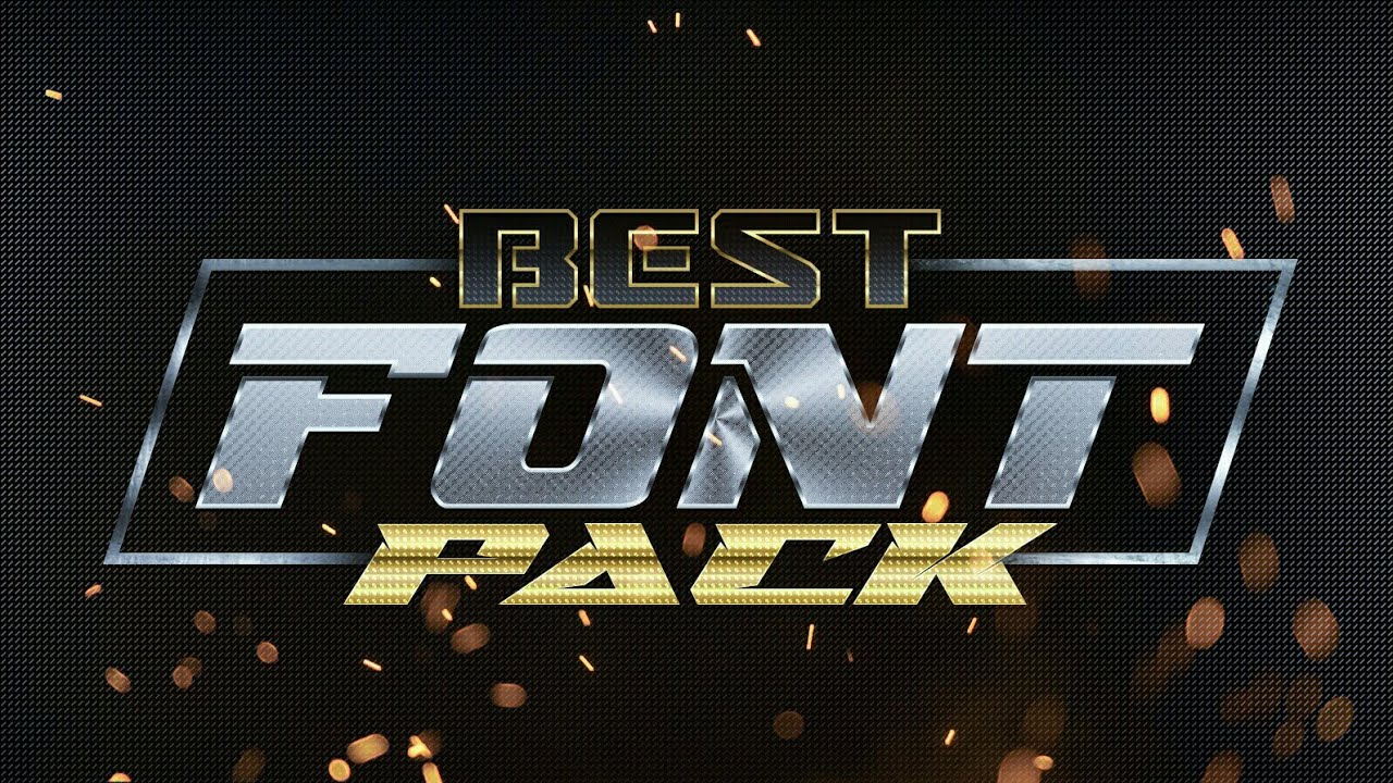 Download best esport font pack for free - YouTube