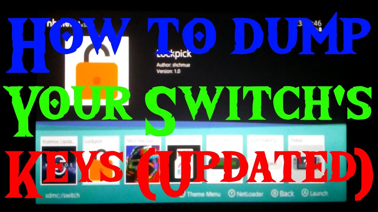 Download How To Dump Nintendo Switch Keys Firmware 6 2 and
