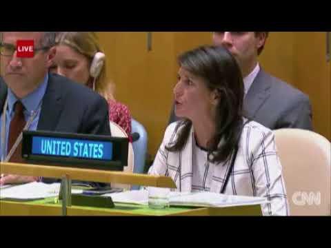Haley Lambasts U.N. Opposition to Amendment Condemning Hamas