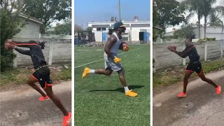 Jerry Jeudy In His Neighborhood Getting That Work, Melvin Gordon Running Routes Denver Broncos