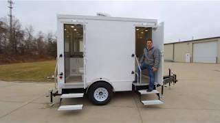 Tutorial: 2 Station Portable Restroom Trailer Affordable Advantage Series
