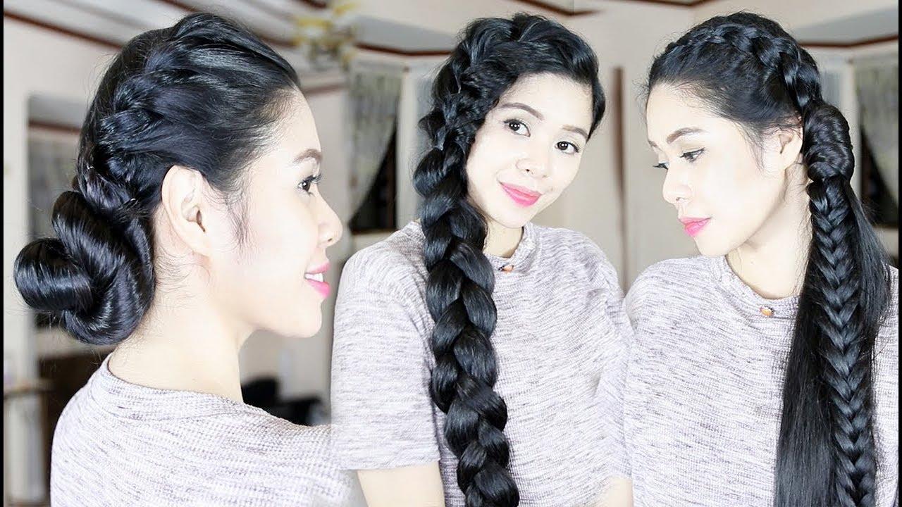 3 heatless hairstyles oily