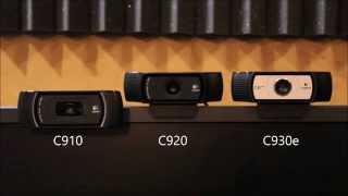Logitech HD Pro Webcam Shootout (comparing the C910, C920, and C930e)
