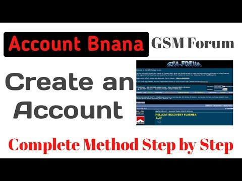 How To Create Forum GsmHosting Account Using Mobile Phone