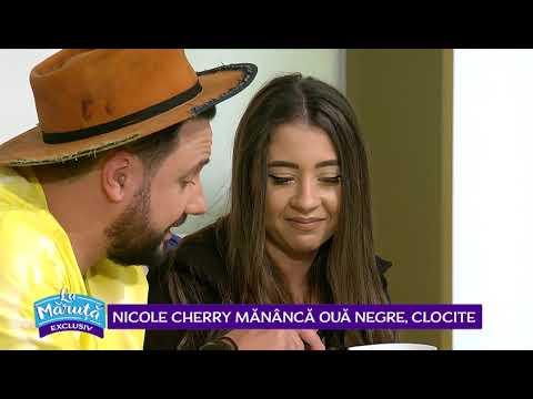Provocare cu Nicole Cherry: mananca oua negre, clocite