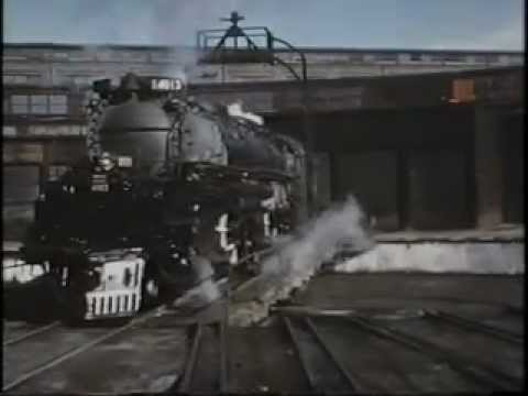 "Union Pacific 4-8-8-4 ""Big Boy"" Steam Engine Footage"