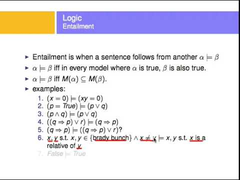 A small tutorial on entailment