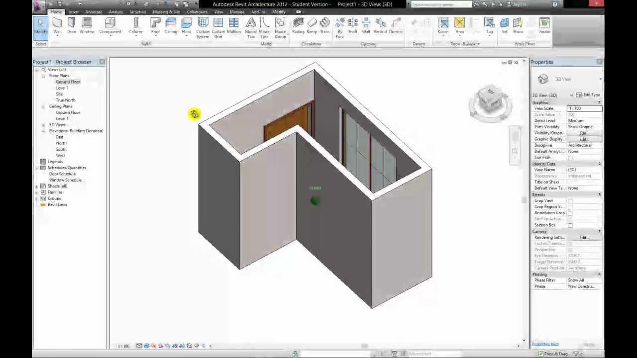 revit 2012 beginners tutorial pt 3 editing components youtube rh youtube com manual revit architecture 2012 español pdf Revit Architecture Suite