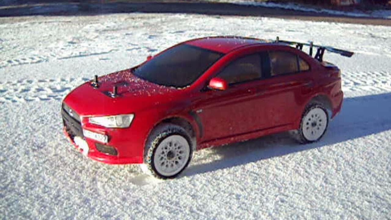 Tires For Cheap >> RC rally car snow testing - YouTube