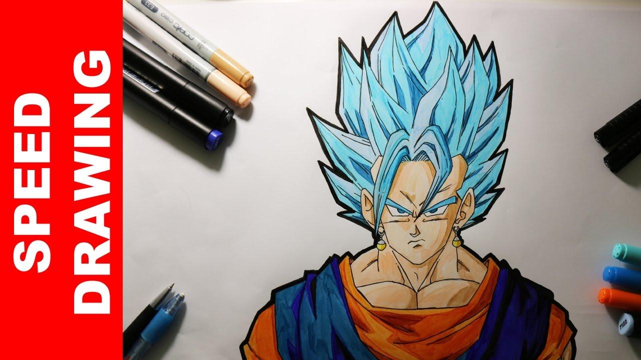 Comment dessiner vegeto super saiyan blue youtube - Comment dessiner trunks ...
