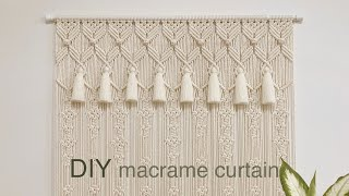 DIY | macrame curtain back dro…