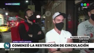 Cómo se vive en Güemes la primera jornada de restricciones de circulación