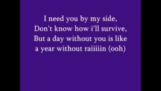 A Year Without Rain whit lyrics on screen