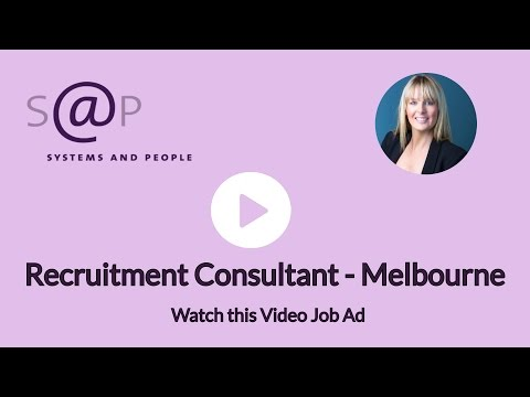 Recruitment Consultant - Melbourne
