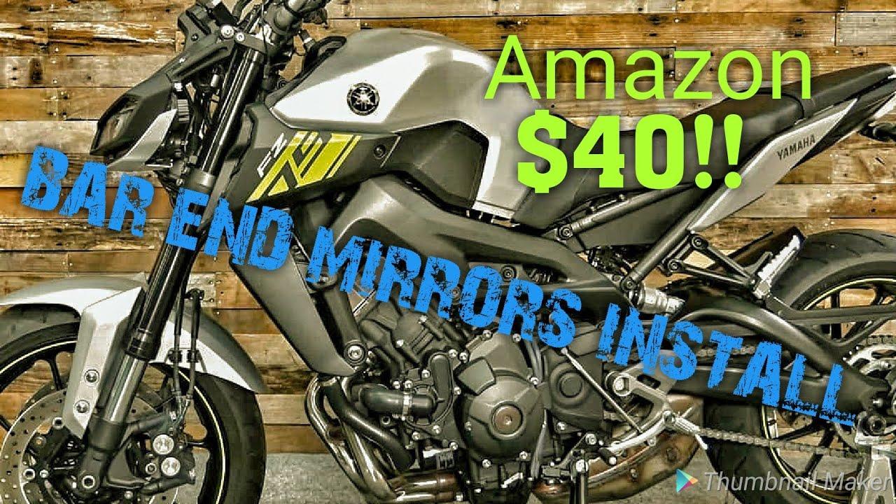 Motorcycle Bar End Mirrors FZ-09 MT-09 FZ-07