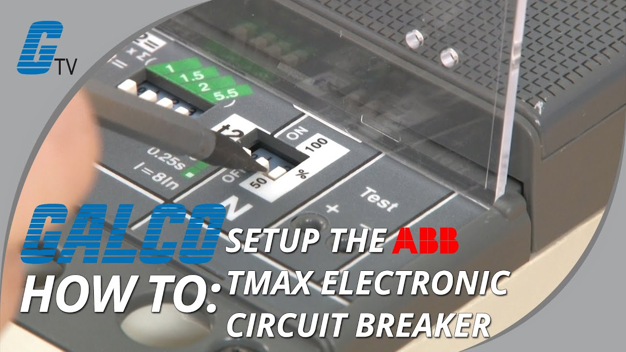 How To Set Up The Abb Electronic Circuit Breaker Tmax Youtube Power Wiring Diagram