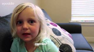 3 year old girl tells hilarious nonsensical stories