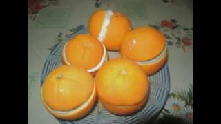 Домашнее мороженое в апельсине.
