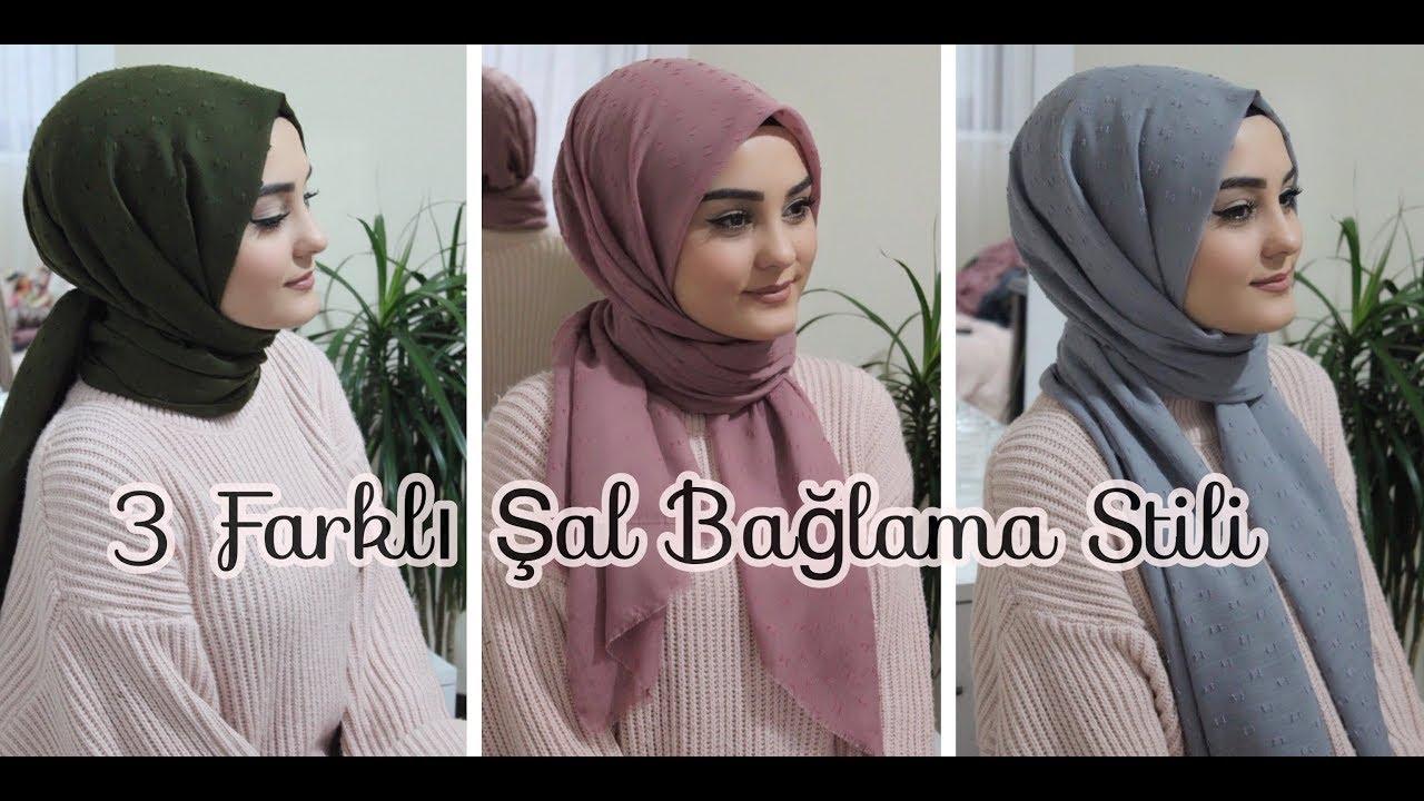 ŞAL BAĞLAMA | 3 Farklı Stil | Hijab Tutorial image