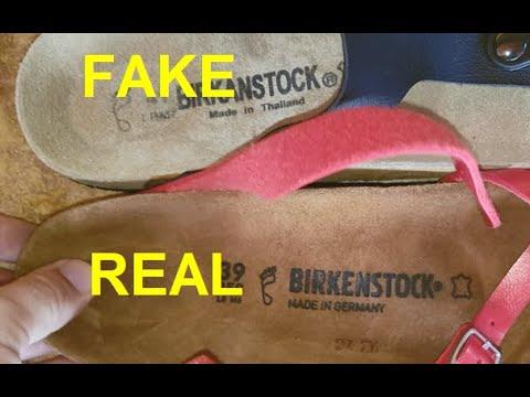 Real vs Fake Birkenstock sandals. How