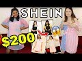 $200 SHEIN HAUL AND TRY ON!! EXPECTATION REALITY FOR TWO BODY SHAPES!