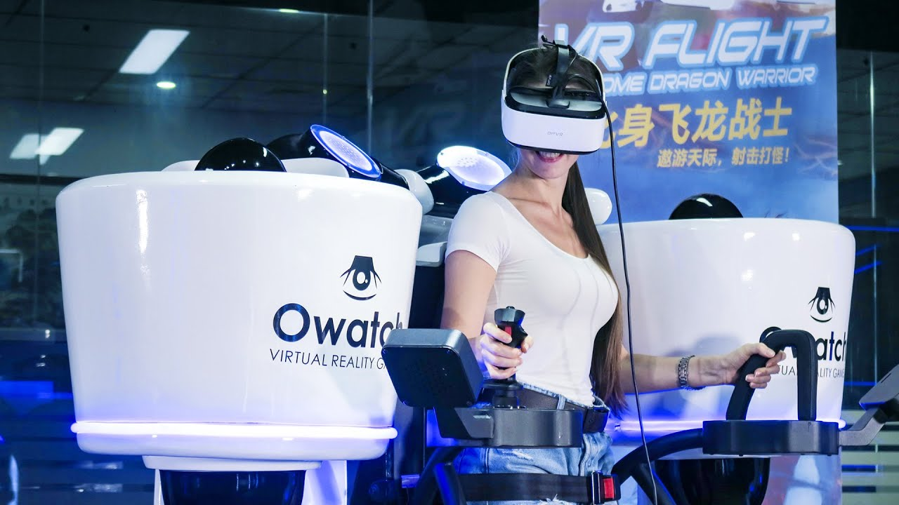 Standing VR Flight Simulator - Super Cool 360 Rotating - Owatch