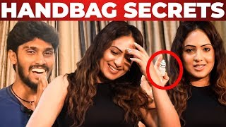 Nikesha Patel Handbag Secrets Revealed! | Whats Inside The Handbag | VJ Rukshanth