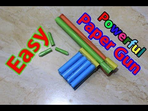How to make a paper Gun That shoots paper Bullets | Paper toy gun