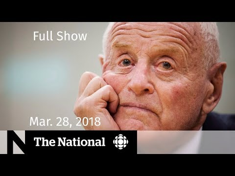 The National for Wednesday March 28, 2018 — Mosque Shooter, Peter Munk, Recycling