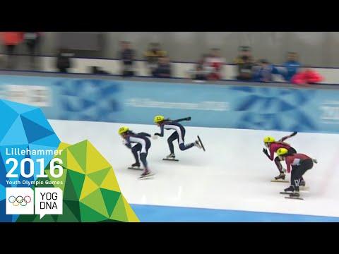 Short Track 1000m - Jiyoo Kim (KOR) wins Ladies' gold   Lillehammer 2016 Youth Olympic Games