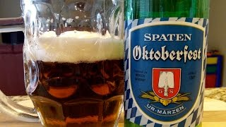 Spaten Oktoberfest - Marzen (5.9% ABV) DJs BrewTube Beer Review #630(To Subscribe: http://www.youtube.com/subscription_center?add_user=djsbrewtube Facebook Link: ..., 2014-10-07T18:00:09.000Z)