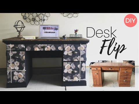 Desk Flip | Rustic Glam Styled | DIY | Ashleigh Lauren Tutorials | Thrifty Furniture Flip