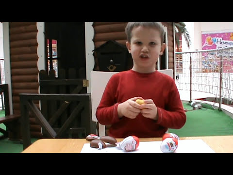 Пингвины Мадагаскара Киндер Сюрприз открываем игрушки Pingouins de Madagascar jouets Kinder Surprise