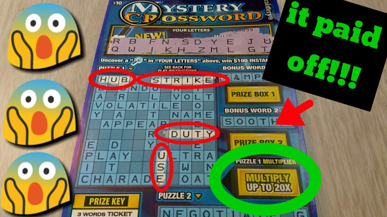 Yes! Mystery Crossword WIN CA scratchers