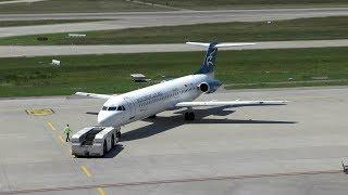 Montenegro Airlines Fokker 100 departure at Zurich Airport