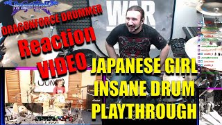 Reaction Video - DragonForce Drummer Reacts to Insane Japanese Girl Drum Cover