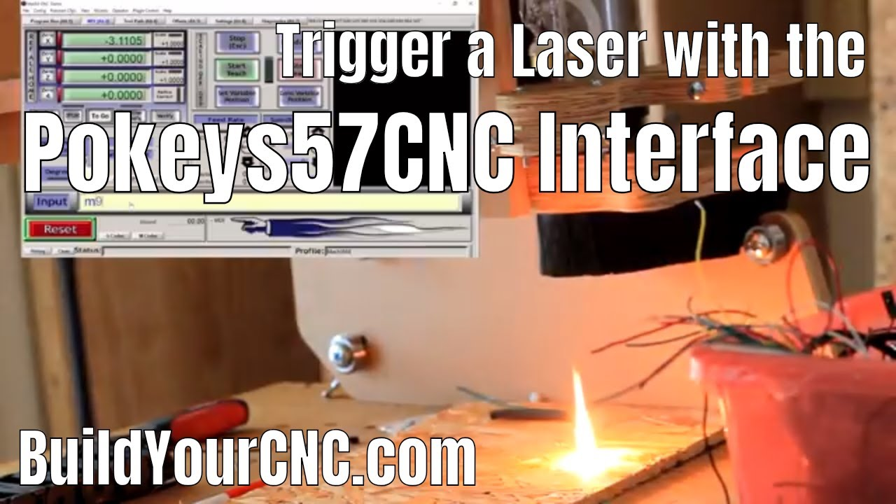 How do I interface to a laser with the Pokey57