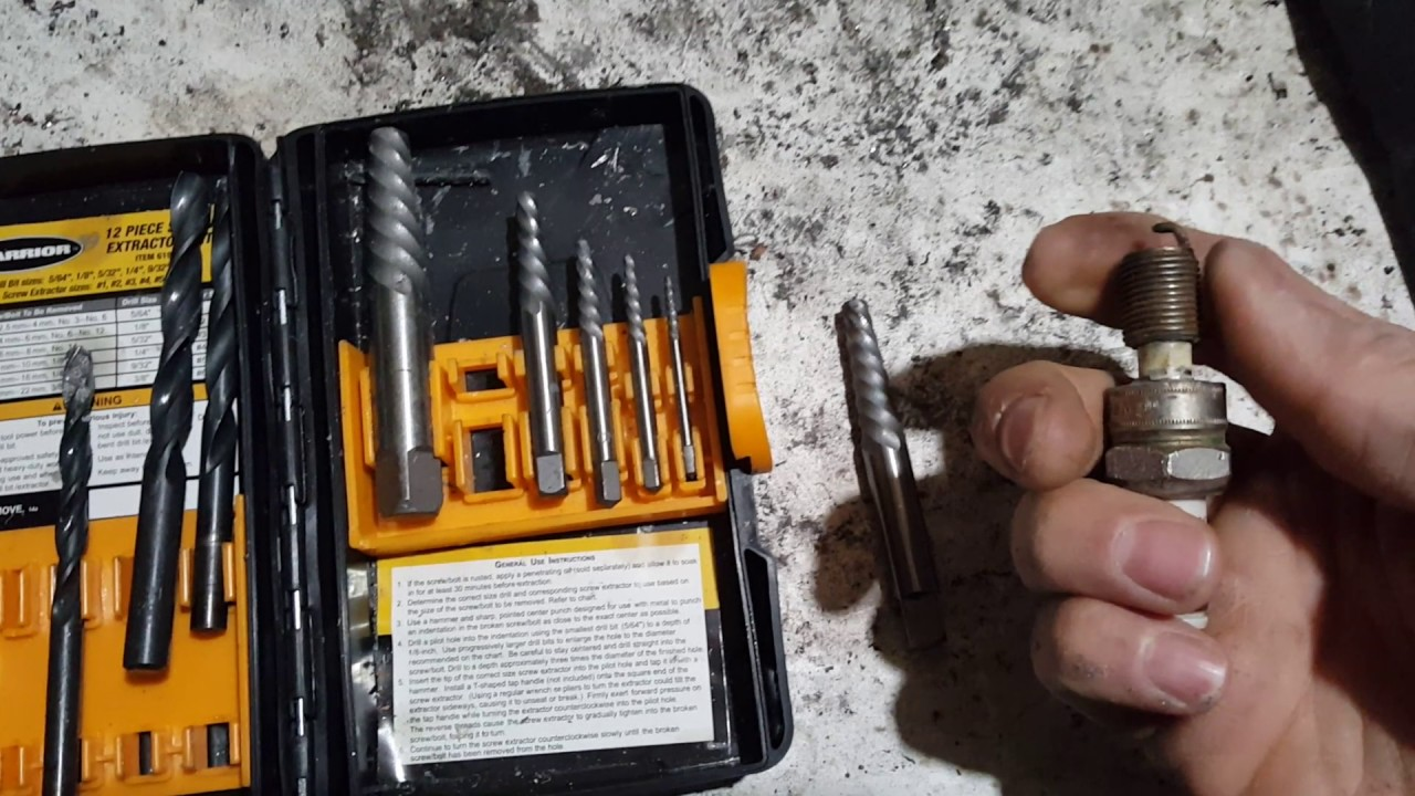 How to remove a broken spark plug from the    engine     YouTube