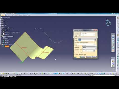 catia 10 Extrapolating Curves and Surfaces  CATIA Mechanical Design V5 6R2013