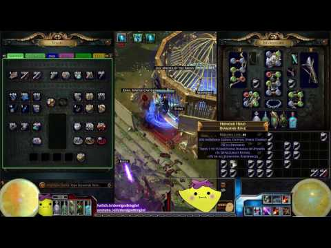 2.5 - Crafting Session - i84+ Diamond Rings VS 900 Chaos Orbs and Perfect Kingsguard 6L - DeMi