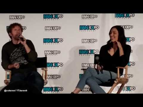 Michaela Conlin and TJ Thyne at Vancouver  Expo 2017 talking about grossest