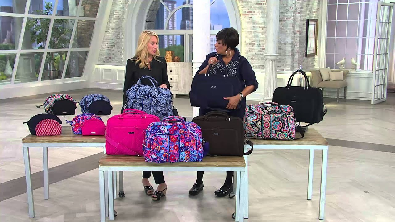 Vera Bradley Microfiber Weekender Bag With Leah Williams