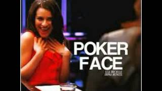 Poker face Glee version( karaoke official)