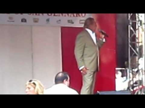 Gianni Russo sings at the Feast of San Gennaro