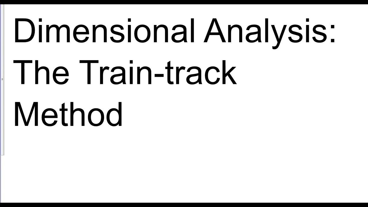 Dimensional Analysis Train Track Method YouTube – Unit Analysis Worksheet