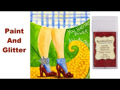 LEARN TO PAINT EASY beginner acrylic tutorial THE RUBY SLIPPERS OZ